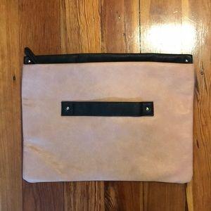 Asos faux leather color block clutch